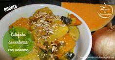 Receta de estofado de verduras con wakame; deliciosa, fácil y saludable #alimentatubienestar