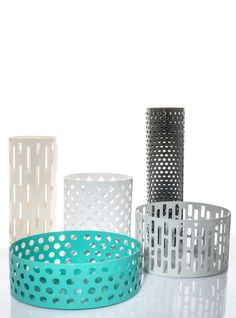 Cattedrale set of iron containers by Serena Confalonieri for Ambrosiana collection