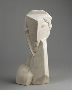 Henri Laurens, Head of a Woman, 1920, Bronze, National Museum of Modern Art - Georges Pompidou Center, Paris