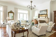 "Greek Revival grandeur and modern-day style happily mix in this new Louisiana home. Text and styling: Margaret Zainey Roux Photography: Sara Essex Bradley It has all of the modern luxuries of new construction, but this home was designed with good, old-fashioned Southern hospitality in mind,"" interior designer Connie Seitz says of her clients' 12,000-square-foot home …"