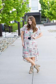 Tribal Lularoe Carly @lularoe : Modest Summer Outfit