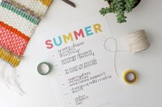 Free Summer Bucket List Printable | Ann-Marie Loves
