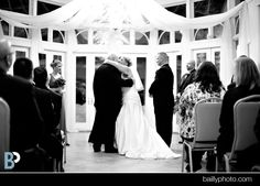 Fabulous, touching, and very photo-friendly moments happen in front of our Conservatory windows. Birch Hill Events #Weddings #NY