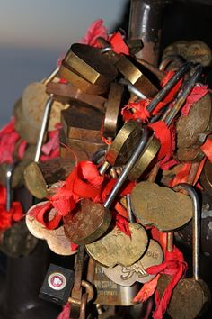 Love locks. Emei Shan, China   © Jodie Burns