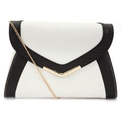 Monchrome Colour Block Clutch ($20) ❤ liked on Polyvore