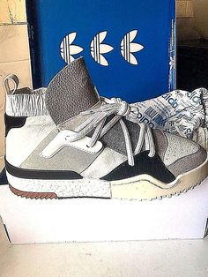 huge selection of 95e86 f86c6 (uk 7.5) adidas x alexander wang aw bball shoes white us 8 rare sold out