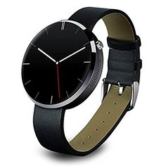 Voice Control Wirst Watch,KINGEAR Waterproof Bluetooth Smart Watch Heart Rate Monitor Smartwatch Finger Gestures Watch for IOS Apple iPhone and Android Smartphone (Black)