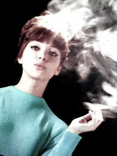Anna Karina smoking a cigarette. - The best Anna Karina Images, Pictures, Photos, Icons and Wallpapers on RavePad! French New Wave, Anna Karina, Francoise Hardy, Beautiful Female Celebrities, Actor Studio, Retro Mode, French Girls, Portraits, Character Inspiration