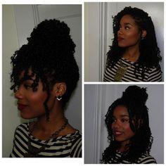 Brown Hair Braids Black underneath Braiding Short Hair Overnight For Waves Hair Updo Styles, Curly Hair Styles, Natural Hair Styles, Twist On Natural Hair, Protective Styles For Natural Hair Short, Ponytail Styles, Mambo Hair, Kinky Twist Styles, Protective Styles