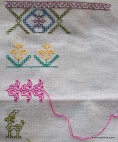 Such pretty stitching! Kasuti #embroidery
