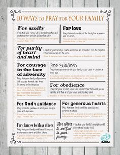 Praying for your family can help you focus on what's really important. Here are iMOM's 10 ways to pray for your own family.