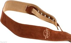 TAYLOR Chocolate Suede Logo Guitar Strap pasek gitarowy