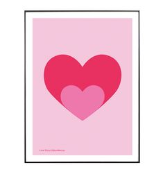 Print Poster, Poster Wall, Heart Poster, Heart Illustration, Ikea Frames, Heart Painting, Heart Crafts, Wall Collage, Wall Art