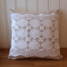 Linen & Lace Pillow by Tuuni.