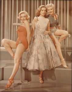 Marilyn Monroe, Betty Grable and Lauren Bacall How to Marry a Millionaire. I love this movie!!