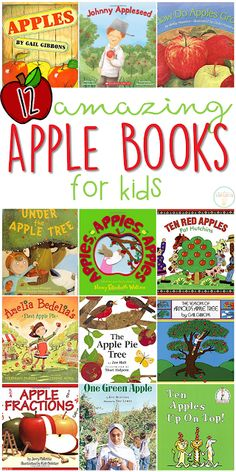 If you are planning an apple theme for your classroom or homeschool this fall youll definitely want to check out these great apple picture books! Lots of great titles and ideas for incorporating comprehension and writing skills too. Preschool Apple Theme, Apple Activities, Fall Preschool, Preschool Books, Preschool Themes, Autumn Activities, Preschool Learning, Sequencing Activities, Teaching Art