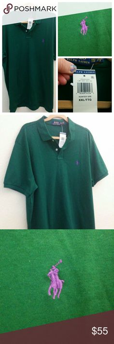 Ralph Lauren Lolo - Hunter Green XXL NWT Ralph Lauren Polo  What else can I say...it's perfect. Sadly to big to hubby. Ralph Lauren Shirts Polos