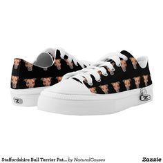 Staffordshire #bullterrier  Pattern, Zipz #sneakers. Printed Shoes