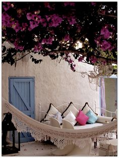 Beautiful, relaxing Boho garden, probably somewhere in Spain.