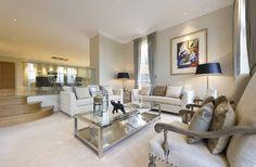 Split level Lounge/dining room - glass divider