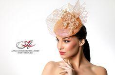 Peach Cream Fascinator mini hat Sophisticated by FeltSilkArtGift