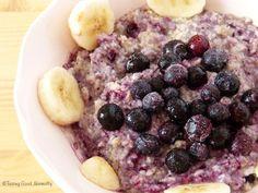 Tasting Good Naturally : Petit déjeuner aux flocons de sarrasin, myrtilles et banane #vegan