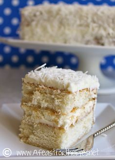 A Feast for the Eyes: Southern Style Coconut Cake with a Whipped Coconut Cream Cheese Frosting