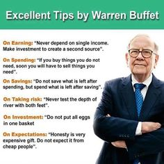 Useful Tips by Warren Buffet!!! Share it with your friends and colleagues....