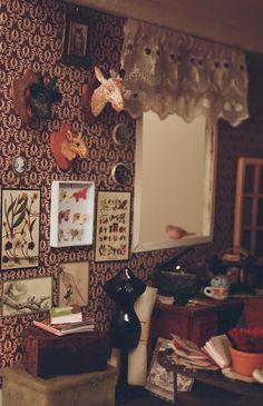 Lasituvan Miniatyyrit - Lasitupa Miniatures: DIY: Animal head trophy - metsästystrofee 1:12
