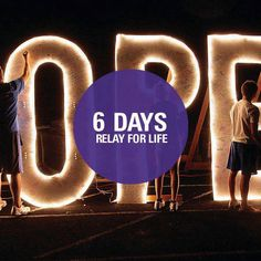 6 days until relay