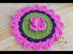 Flor de Crochê Hilda - Aprendendo Croche