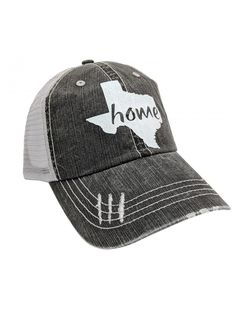 bedfaee7887 Women s Texas Home Bling Distressed Baseball Cap - Grey White - C2182H2HOGL