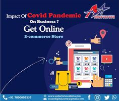 Don't let the pandemic affect your business. Get your business an online solution. Reach out to the global audience through our highly impacting e-commerce solutions. A-Star Innovation drives your business by putting your shop online and making it easily accessible and 24×7 available to your customers . Email- astardigitalzone@gmail.com Visit- www.astarinnovation.com  #AStarInnovation #BusinessSolution #DigitalMarketing #DigitalMarketingLucknow #Covid19 #Impact #EcommerceStore… Out Of Home Advertising, Ecommerce Store, Digital Marketing, Innovation, Branding, Star, Business, Brand Management, Store