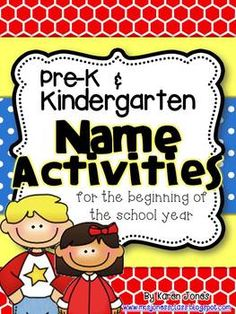 Name Activities for the beginning of the school year! 13 different ways to have fun learning names :) $