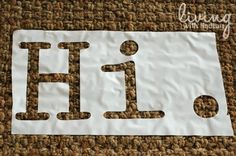 Use Contact/Shelf Paper to make stencils.