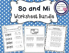 Set of 11 fun so and mi worksheets. Great for practice and assessment!