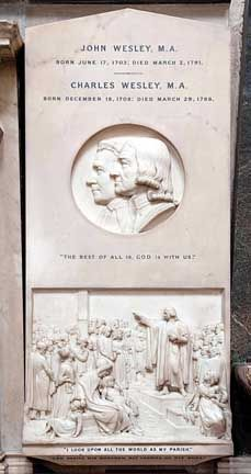 On March 1876 the Dean of Westminster, Arthur Stanley, unveiled a white marble memorial to Methodists John and Charles Wesley. John Wesley, Westminster Abbey, Culture, Memories, History, White Marble, Travel, Memoirs, Souvenirs
