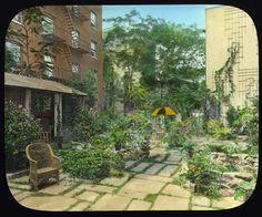 """Flagstones,"" Charles Clinton Marshall house, 117 East 55th Street, New York, New York. Tea house/sleeping porch, 1921–1922"