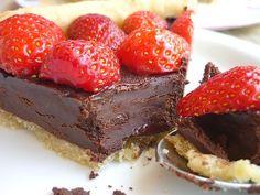 Tarte Chocolat Noir et Fraises pour la Fête des Papas