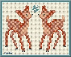 Free deer chart by arachne en son jardin. Thanks @Lisa *freebie* Bailey