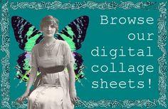 LUNAGIRL Vintage Images Photos Art CDs Digital Collage Sheets  http://lunagirl.com/pages/digital-collage-sheets