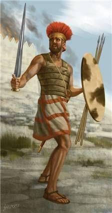 Philistine Warrior 1000 BCE, by Johnny Shumate