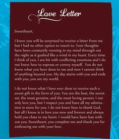Love letter to my lovely girlfriend