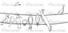 Birds on a Wire Digi Digital Stamp