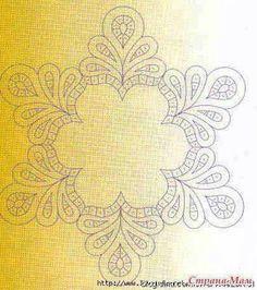 Neşe'nin gözdeleri Border Embroidery Designs, Embroidery Patterns, Knitting Patterns, Sewing Patterns, Pillow Embroidery, Cutwork Embroidery, Machine Embroidery, Corset Sewing Pattern, Whole Cloth Quilts
