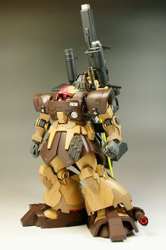 Dom Tropen [The Maximum Full Equipment Type] - Customized Build Battle Bots, Big Battle, Sci Fi Anime, Mecha Anime, Earth Tone Colors, Frame Arms, Custom Gundam, Mechanical Design, Gundam Model