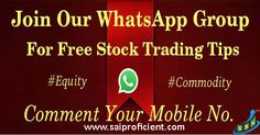 I am Creating Stock Market #WhatsApp Group for Trading Tips Just Drop Your Number