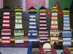 Majakka, avain- ja kännykkäteline, 4lk Diy For Kids, Crafts For Kids, Wooden Crafts, Elementary Schools, Lighthouse, Projects To Try, Woodworking, Activities, Flowers