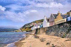 Gardenstown Beach in Aberdeenshire, Scotland