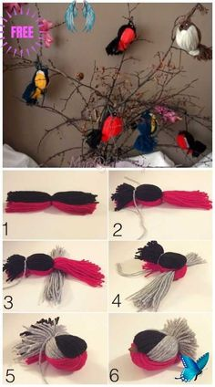 <br> Fun Crafts For Kids, Cute Crafts, Diy For Kids, Easy Crafts, Diy And Crafts, Arts And Crafts, Creative Crafts, Crafts With Wool, Yarn Crafts Kids